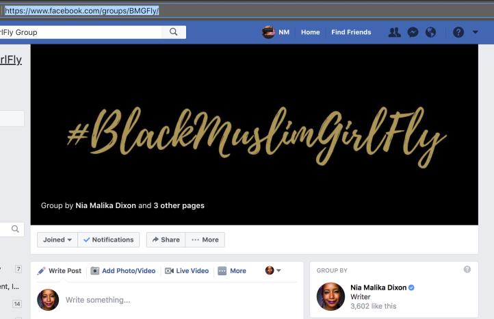 #BlackMuslimGirlFly FB Group 2018-02-18 18.25.29