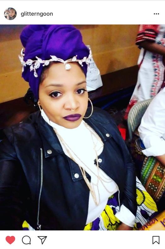 Faheemah in purple for wakanda