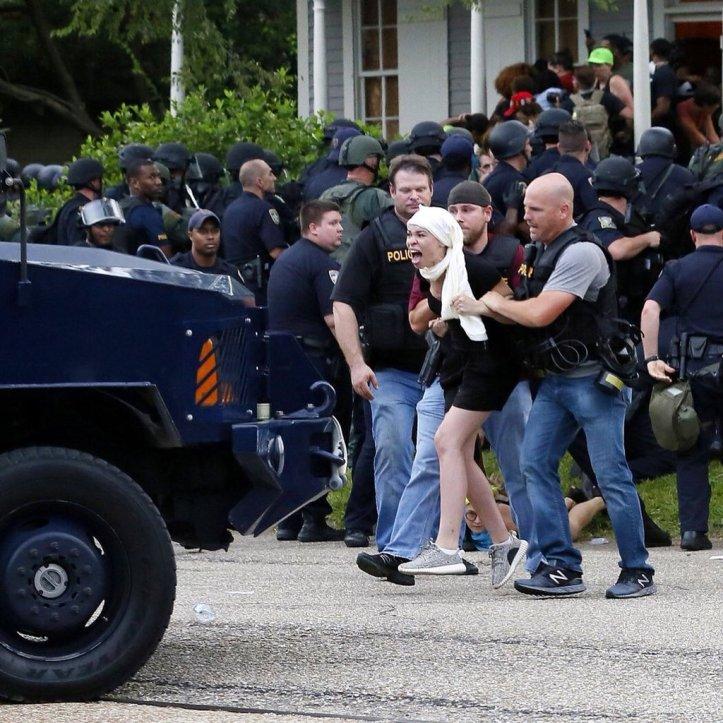 Blair's arrest in Baton Rouge
