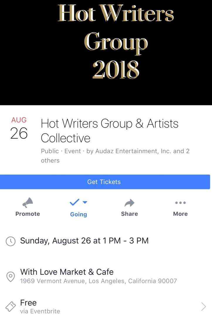 Hot Writers Group Aug 26