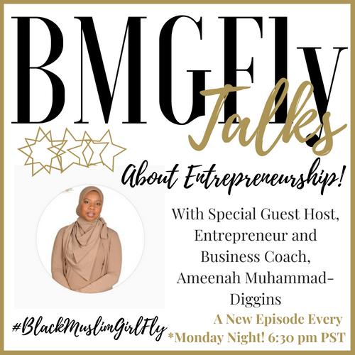 Gold on White #BMGFly Talks About Entrepreneurship Show Logo