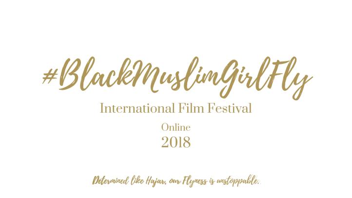 a Copy of IFFB Banner w Hajar Slogan Gold on top of White Playlist Script 2560 x 1440 Transparent for #BlackMuslimGirlFly International Film Festival (2)